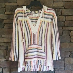 Vintage Havana Stripe Popover Lightweight Sweater.